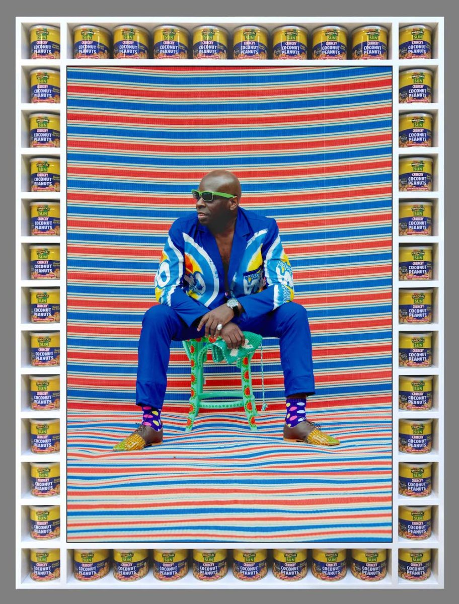 Michael Garnette Sittin' photograph by © Hassan Hajjaj courtesy of the artist and Vigo Gallery