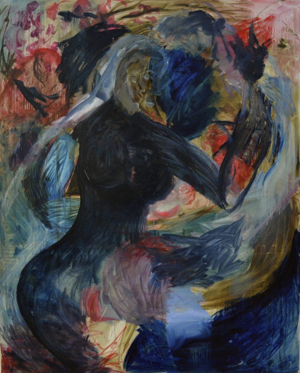 Qayyum Noor - To Ripen, oil on canvas, 2017, 120x170cm