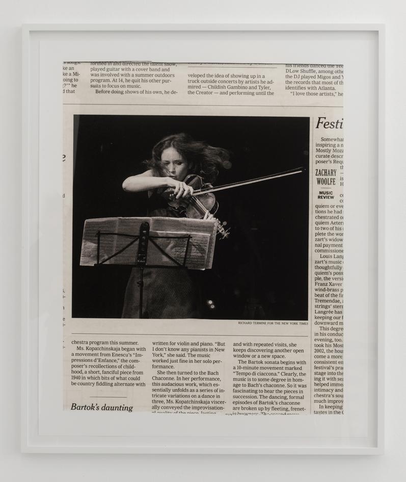 Joseph Grigely Songs without Words (Bartok) 2017, photo Marc Domage courtesy Air de Paris, Paris, digital pigment print on Photo Rag Hahnemühle paper 305 g, frame 98,4 x 83,5 x 3,7 cm without frame 90 x 76 cm