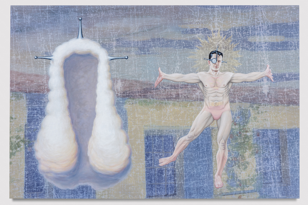 Jim Shaw, Glad Day for the New Man, 2017 with Blum & Poe