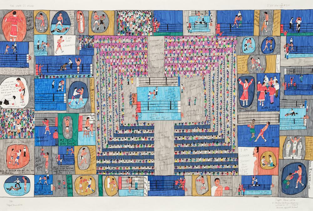 Dapper Bruce Lafitte, I Am Better Than Picasso, 2015 with M+B