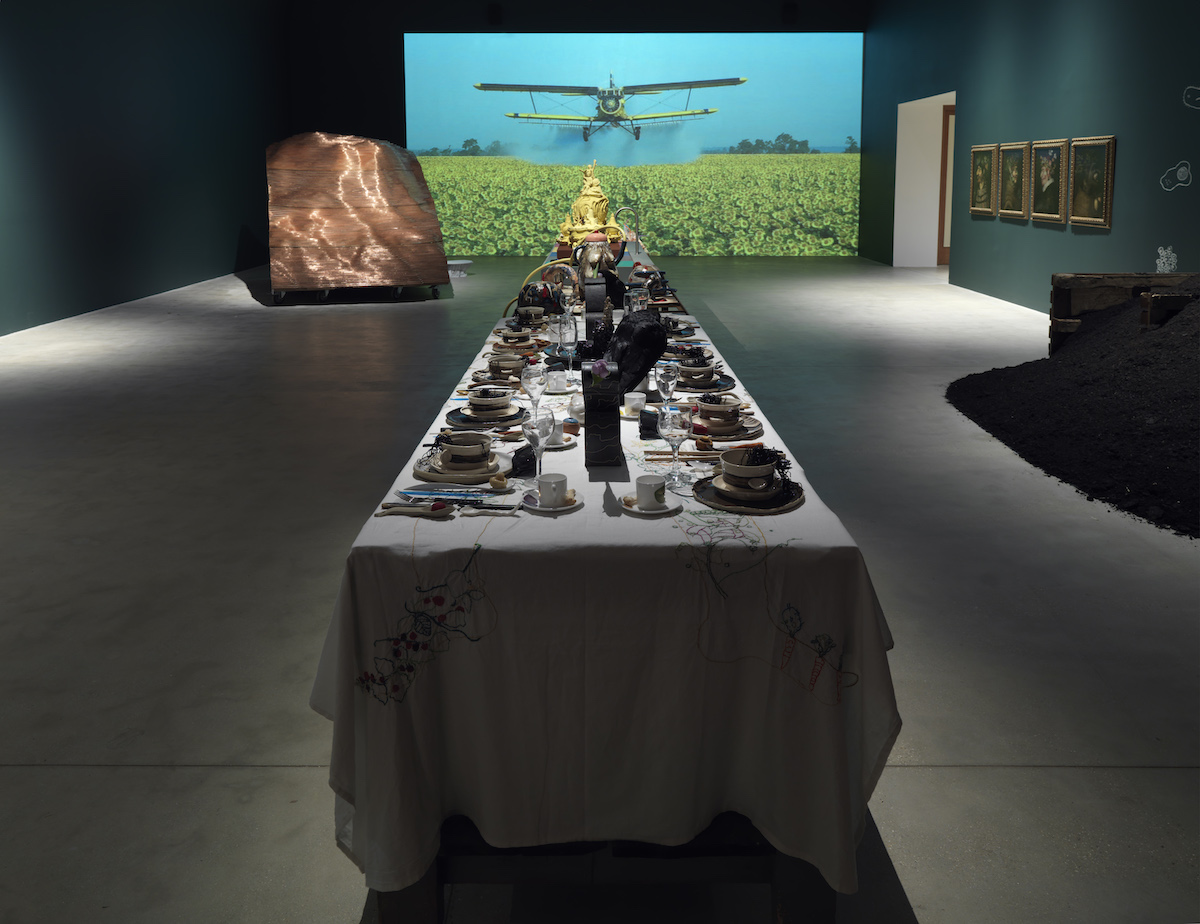 Installation view: 'The Land We Live In – The Land We Left Behind' Hauser & Wirth Somerset, 20 January – 7 May 2018