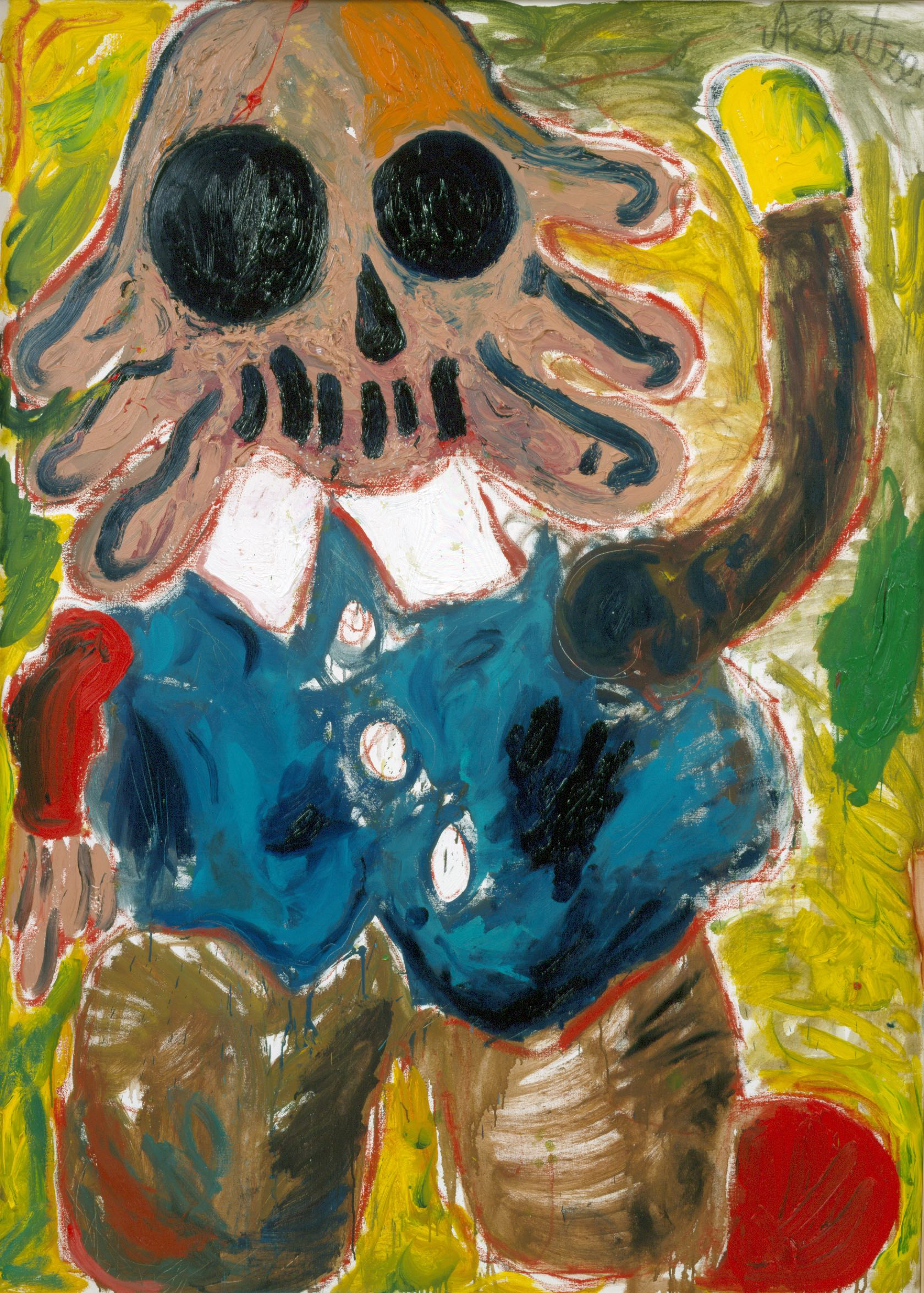 André Butzer, Vater von Mirinda (Bleod Stumpf), 2003 Private Collection, Courtesy of Galerie Max Hetzler, Berlin I Paris