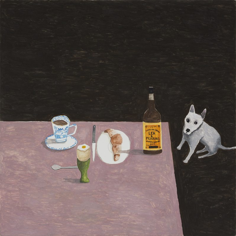 Breakfast Table with Dog, 2015