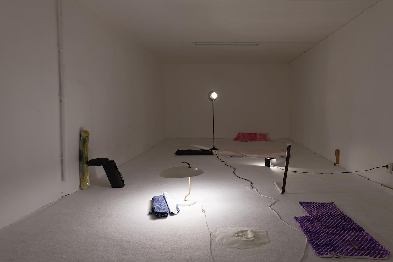 Installation view, je t'épaule tu me respire, Marcelle Alix 2018.