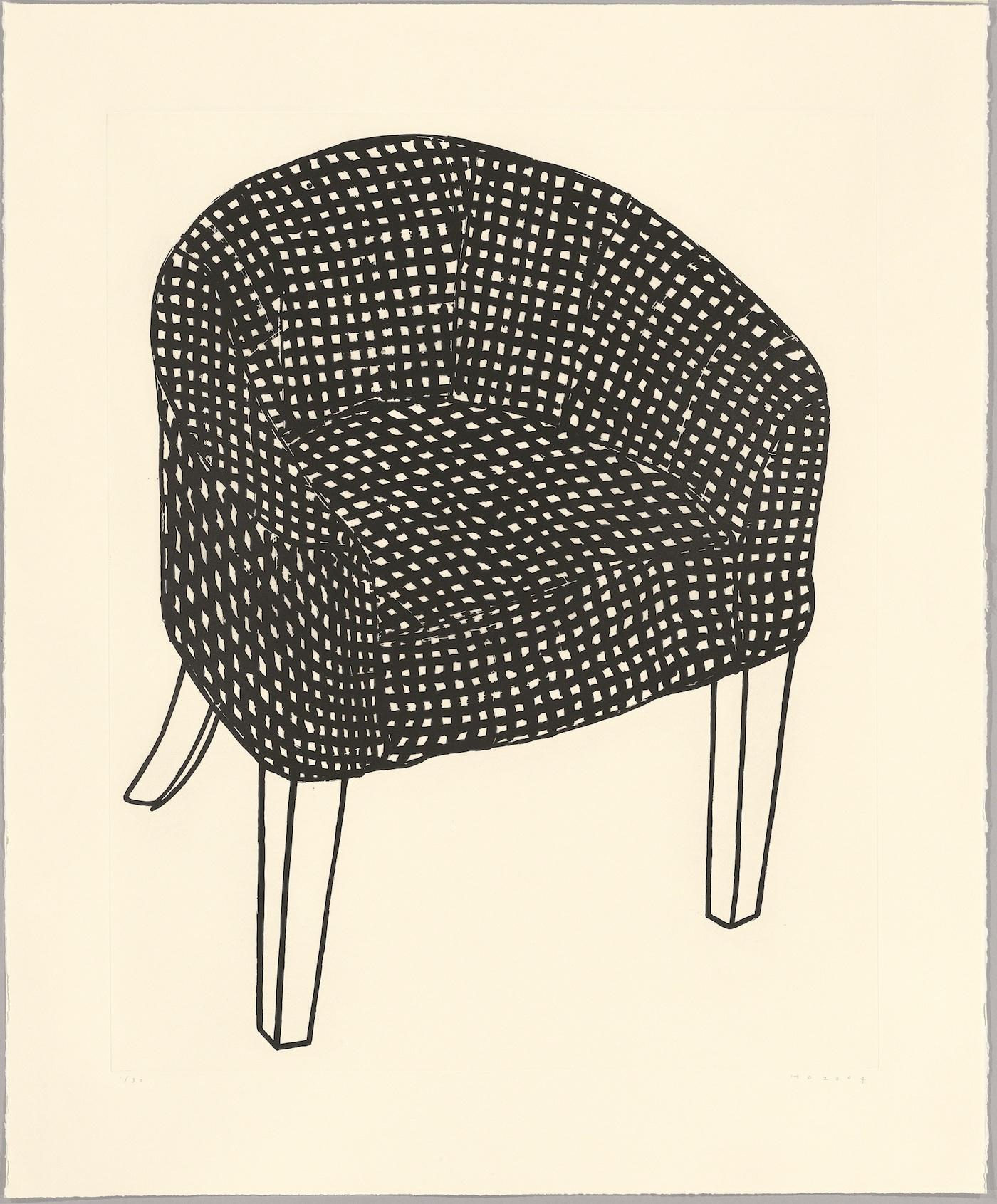 Humphrey Ocean, Fat Check Chair, 2006