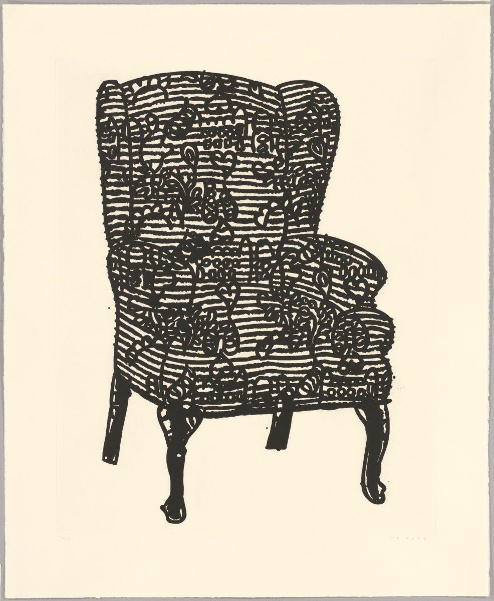 Humphrey Ocean - Stripey Love Chair, 2006