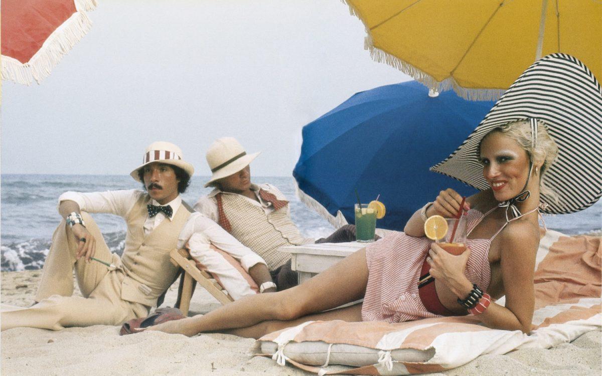 Antonio Lopez, Corey Tippin and Donna Jordan, Saint-Tropez, 1970