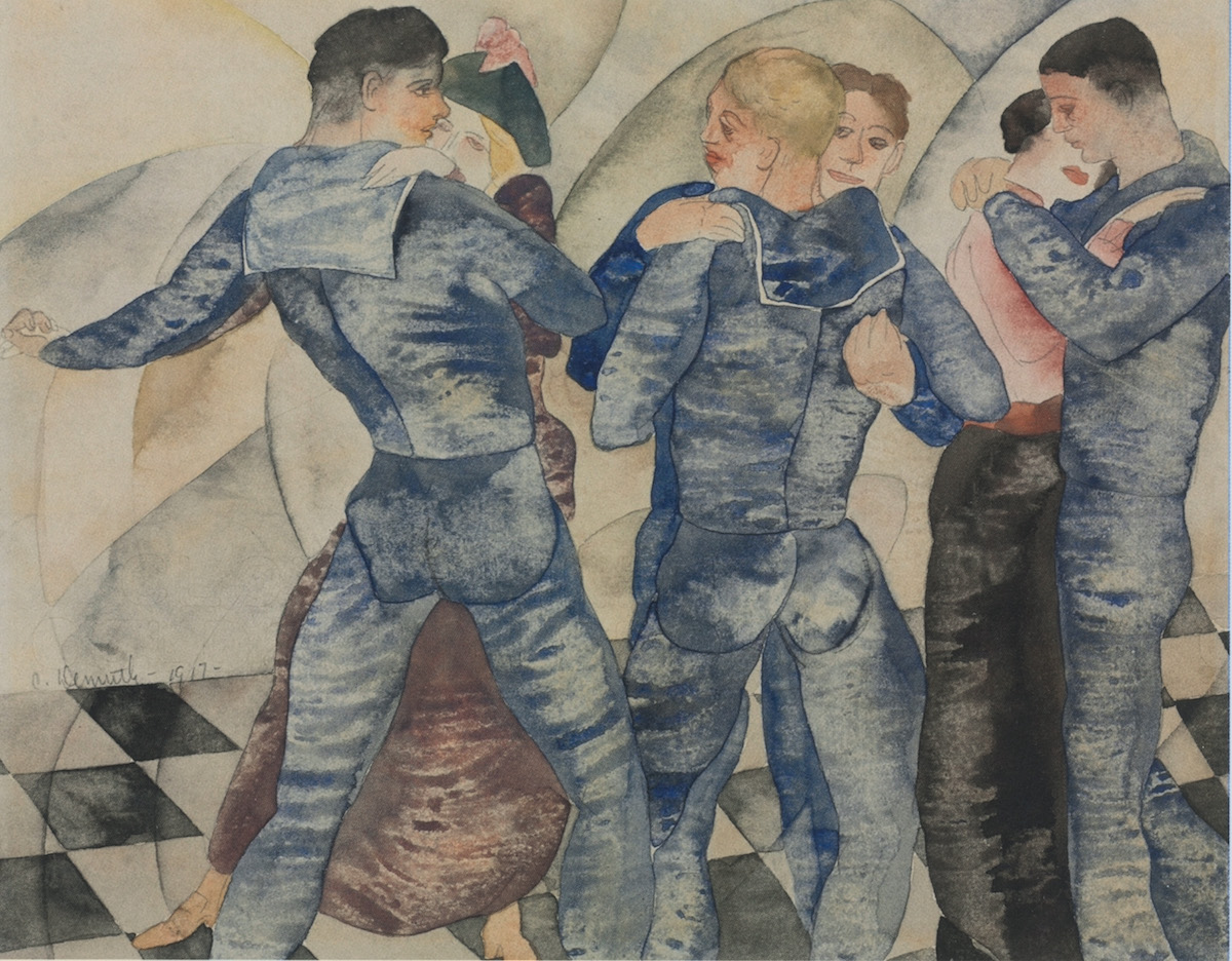 Charles Demuth, Dancing Sailors, 1917. Courtesy The Cleveland Museum of Art, Ohio