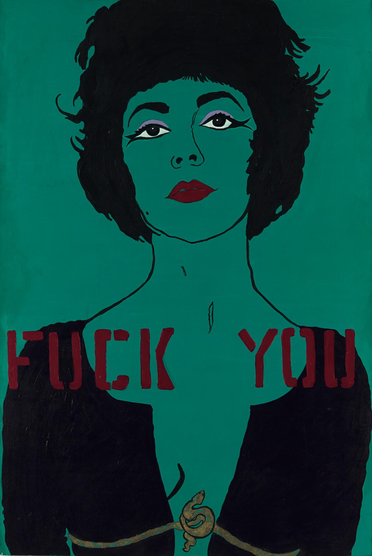 Kathe Burkhart, Fuck You from the Liz Taylor Series Cleopatra, 1984