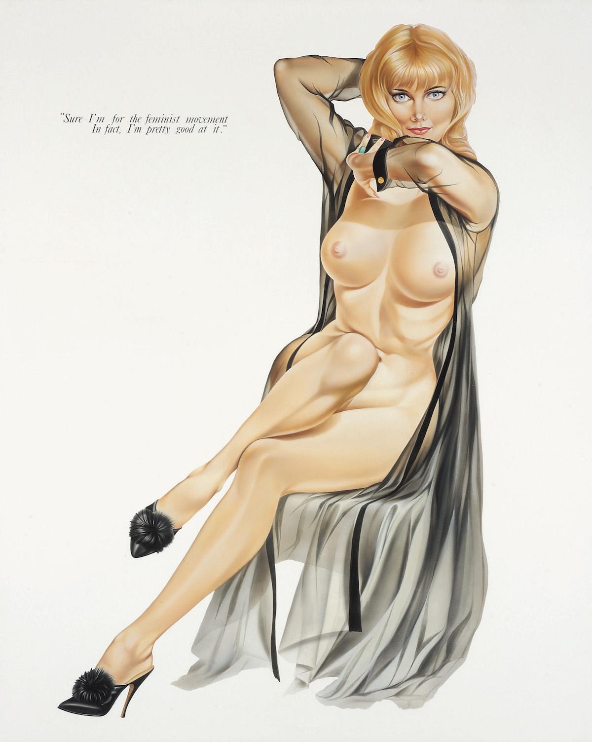Lutz Bacher, Playboys (Feminist Movement), 1993. Courtesy Lutz Bacher, Greene Naftali; New York and Galerie Bucholz, Köln/Berlin/New York