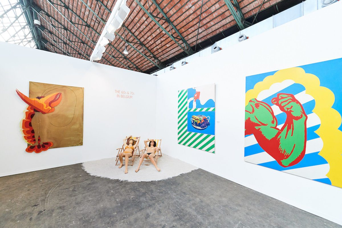 Antoine Laurentin booth at Art Brussels 2018 in the Rediscovery section. Photo credit David Plas (2)