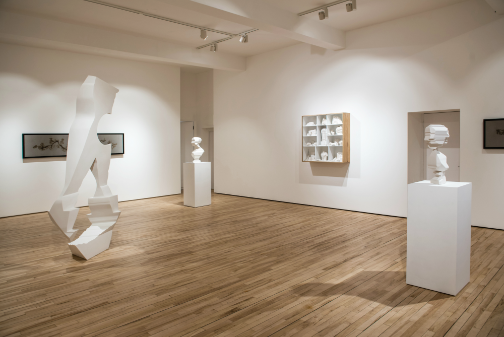 Installation image showing works by Nick Hornby, Eduardo Paolozzi, Douglas White © James Gifford-Mead