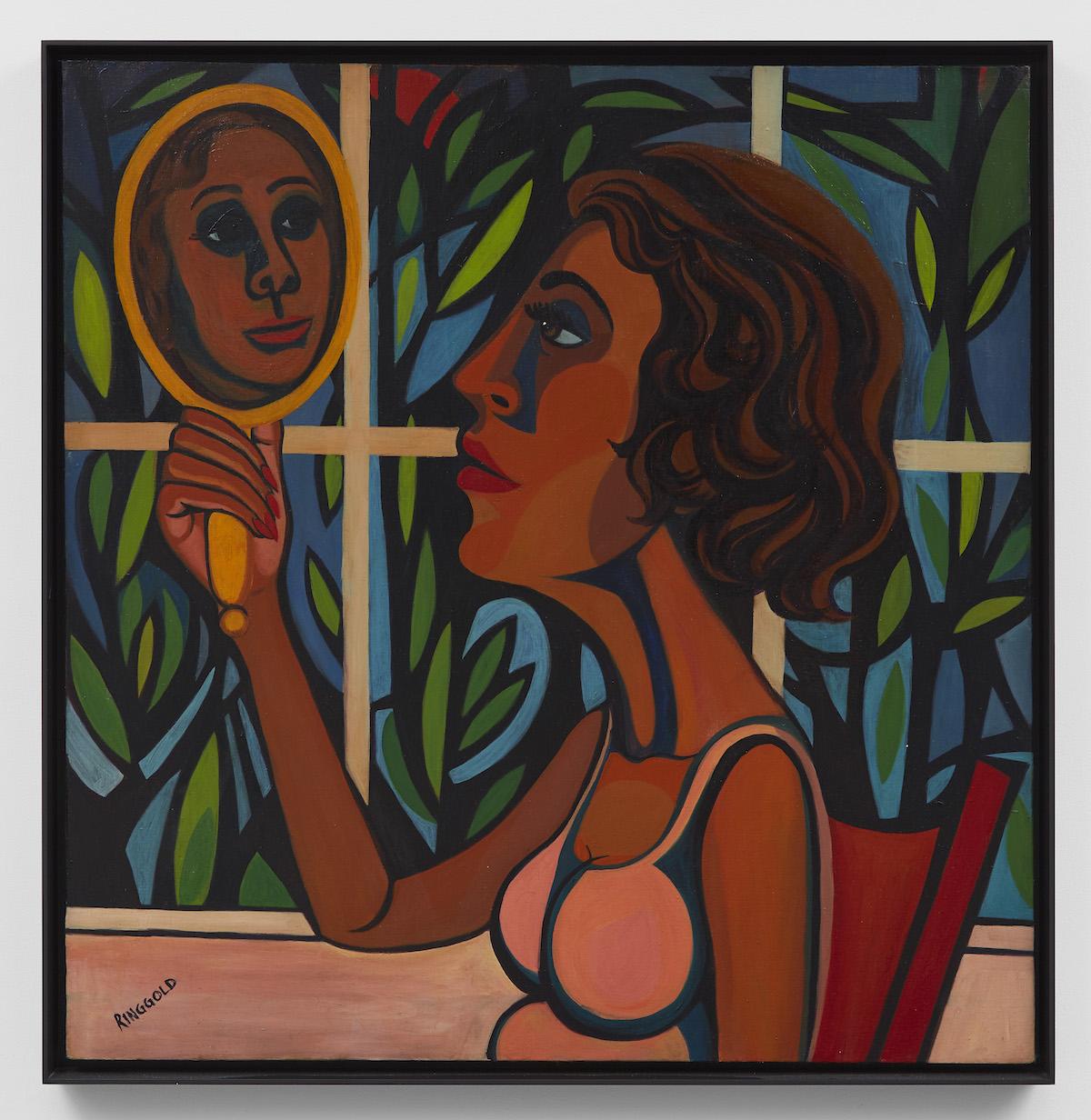American People Series #16: Woman Looking in a Mirror, 1966