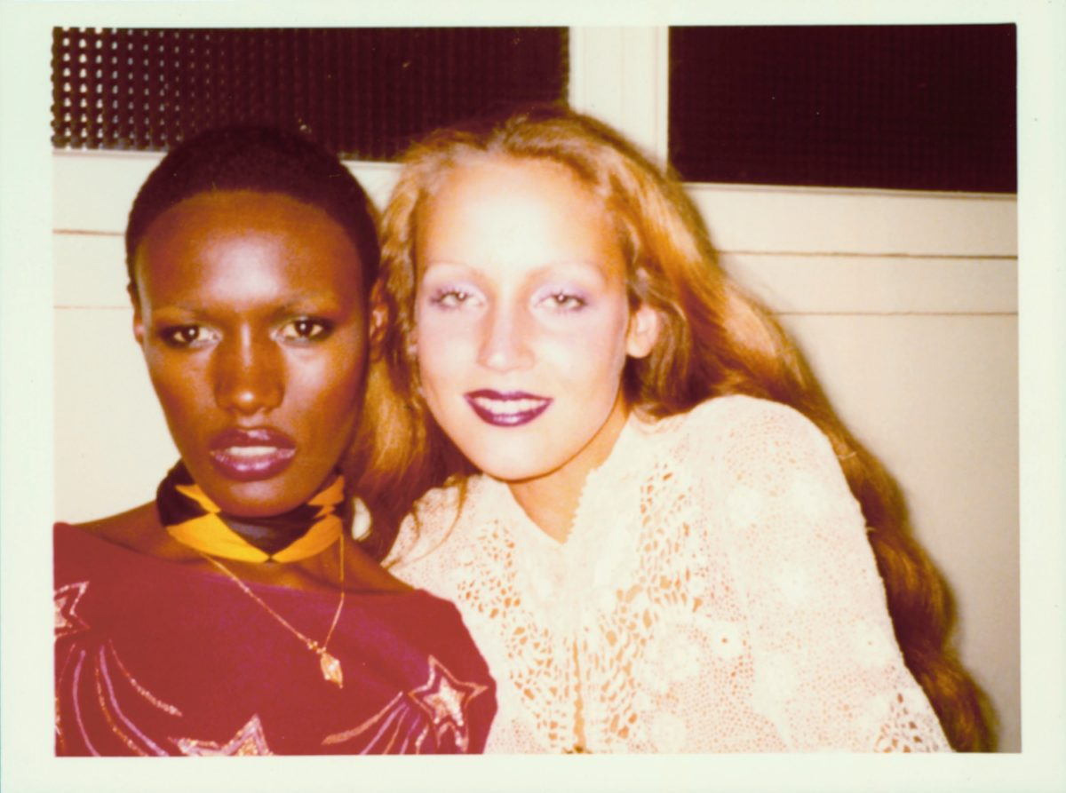 Grace Jones and Jerry Hall, Paris, 1973