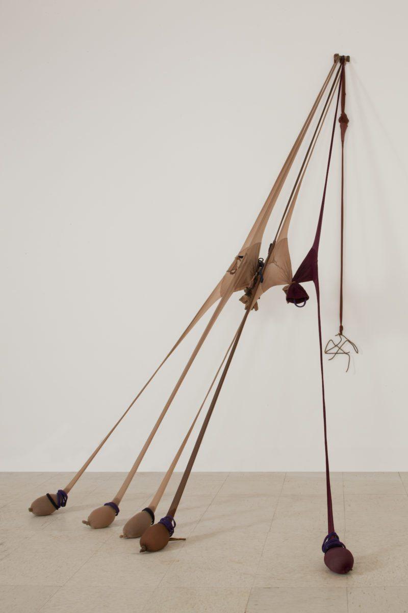 "Senga Nengudi, R.S.V.P. Reverie ""Scribe"", 2014. Courtesy Sprüth Magers and White Cube"