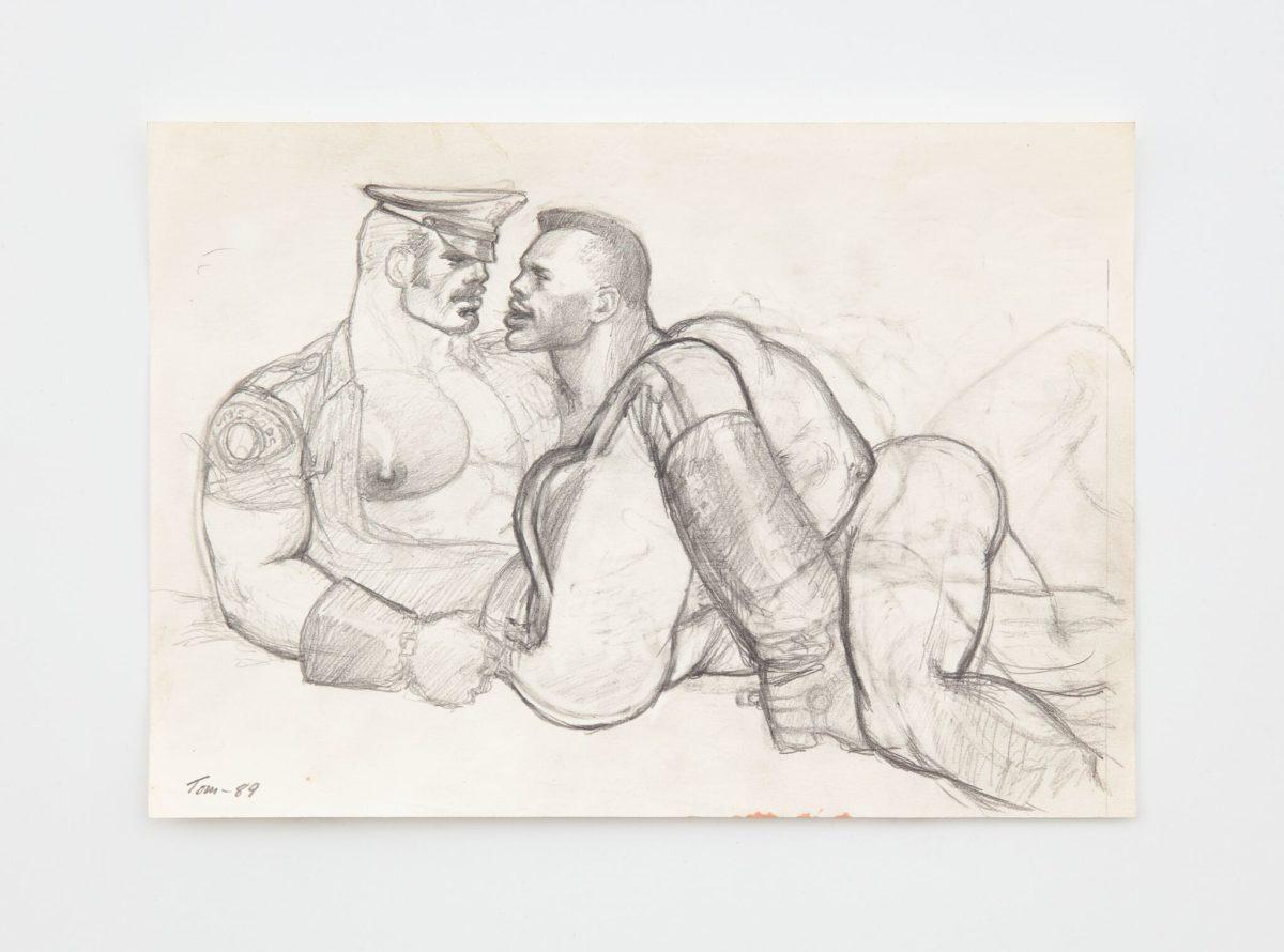 Tom of Finland, Untitled (Preparatory Drawing), 1989 with David Kordansky Gallery