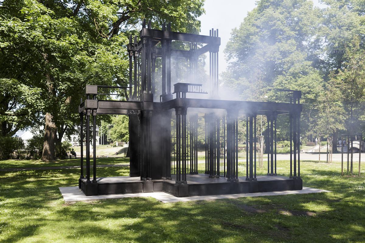 James Beckett, Palace Ruin, 2016. The Former Faculty of Biology of the University of Latvia. Riga Biennial of Contemporary Art RIBOCA