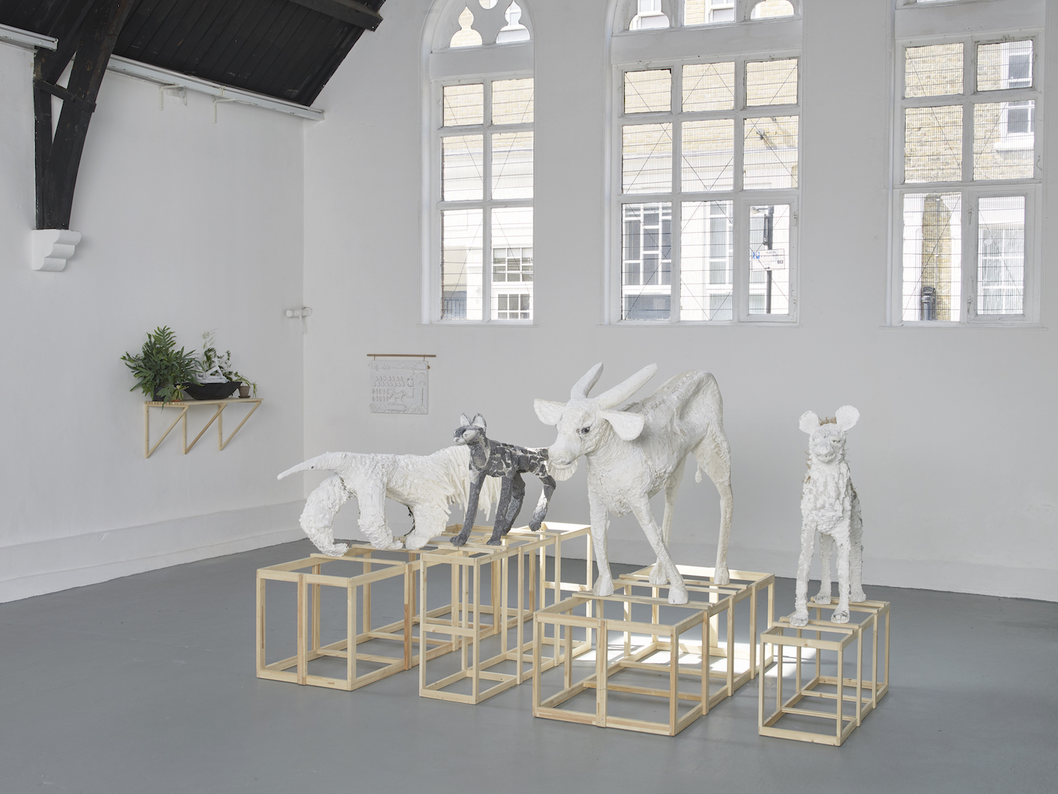 Lin May Saeed, Biene, Installation View, Studio Voltaire London, 2018, Courtesy of the artist; Jacky Strenz Galerie, Frankfurt and Nicolas Krupp, Basel. Credit Andy Keate