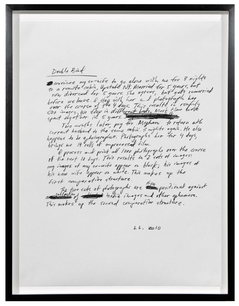 Leigh Ledare, Double Bind (Script), 2010