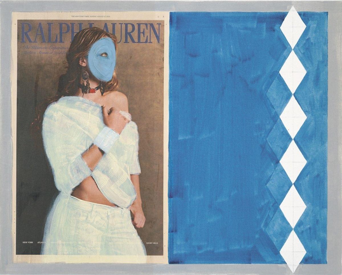 Josephine Meckseper,  Ralph Lauren 8/18 (Mask), 2006. Photo Josephine Meckseper. Courtesy Galerie Reinhard Hauff