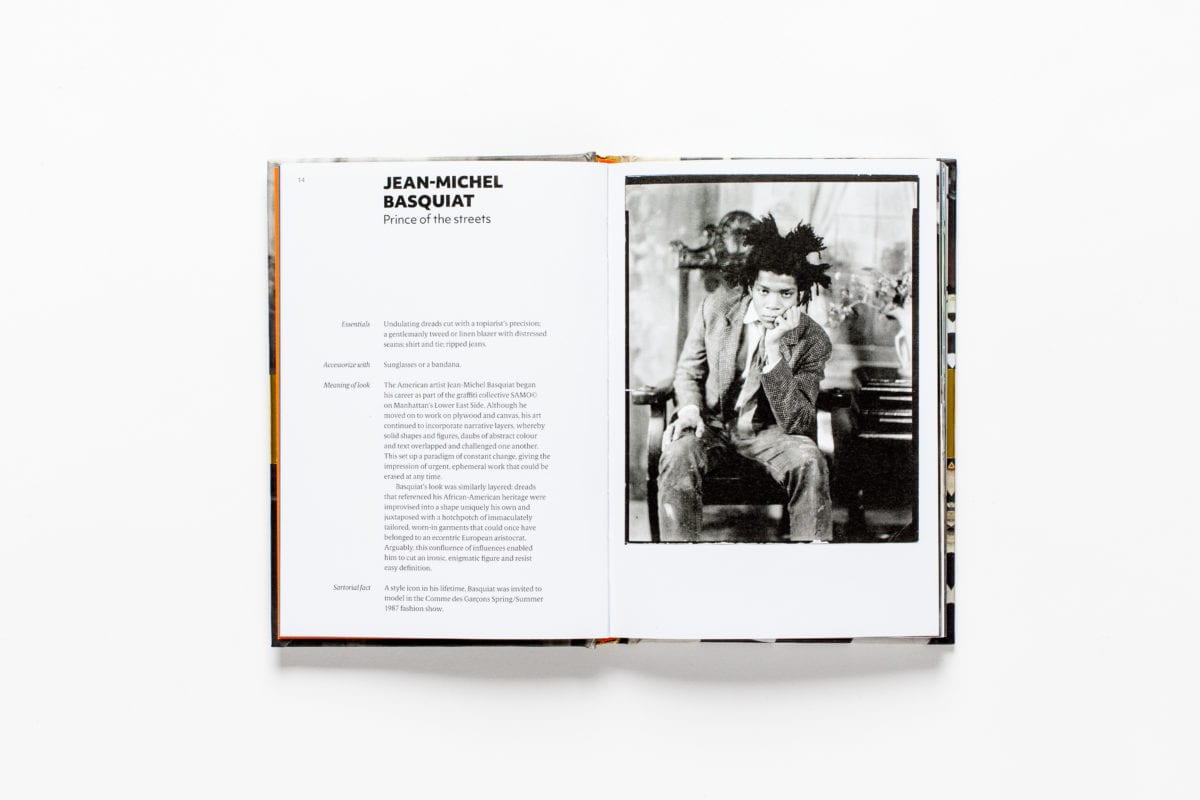 Jean-Michel Basquiat, from Sartorial: The Art of Looking Like an Artist, by Katerina Pantelides, published by Laurence King