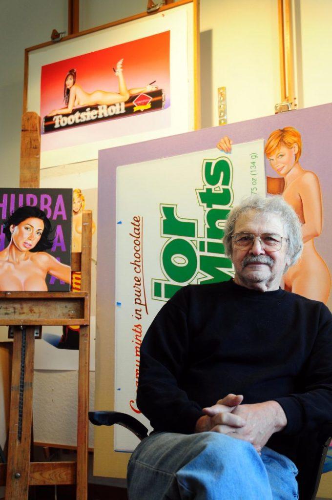 Mel Ramos in his studio in 2012. Photo courtesy of the Crocker Art Museum, Sacramento.