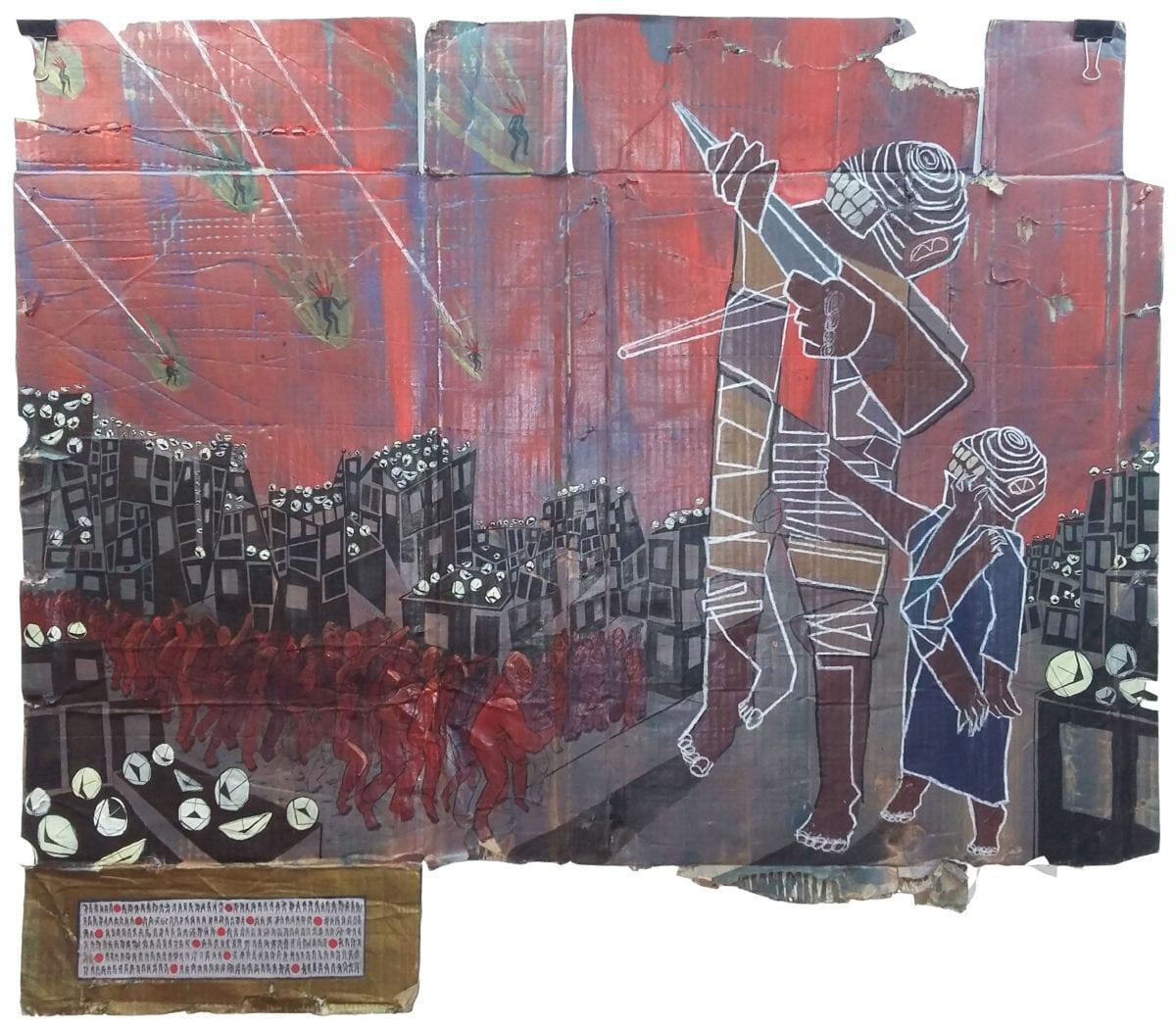 Ali Abdel Mohsen, Slow War with Mashrabia Gallery of Contemporary Art, Cairo