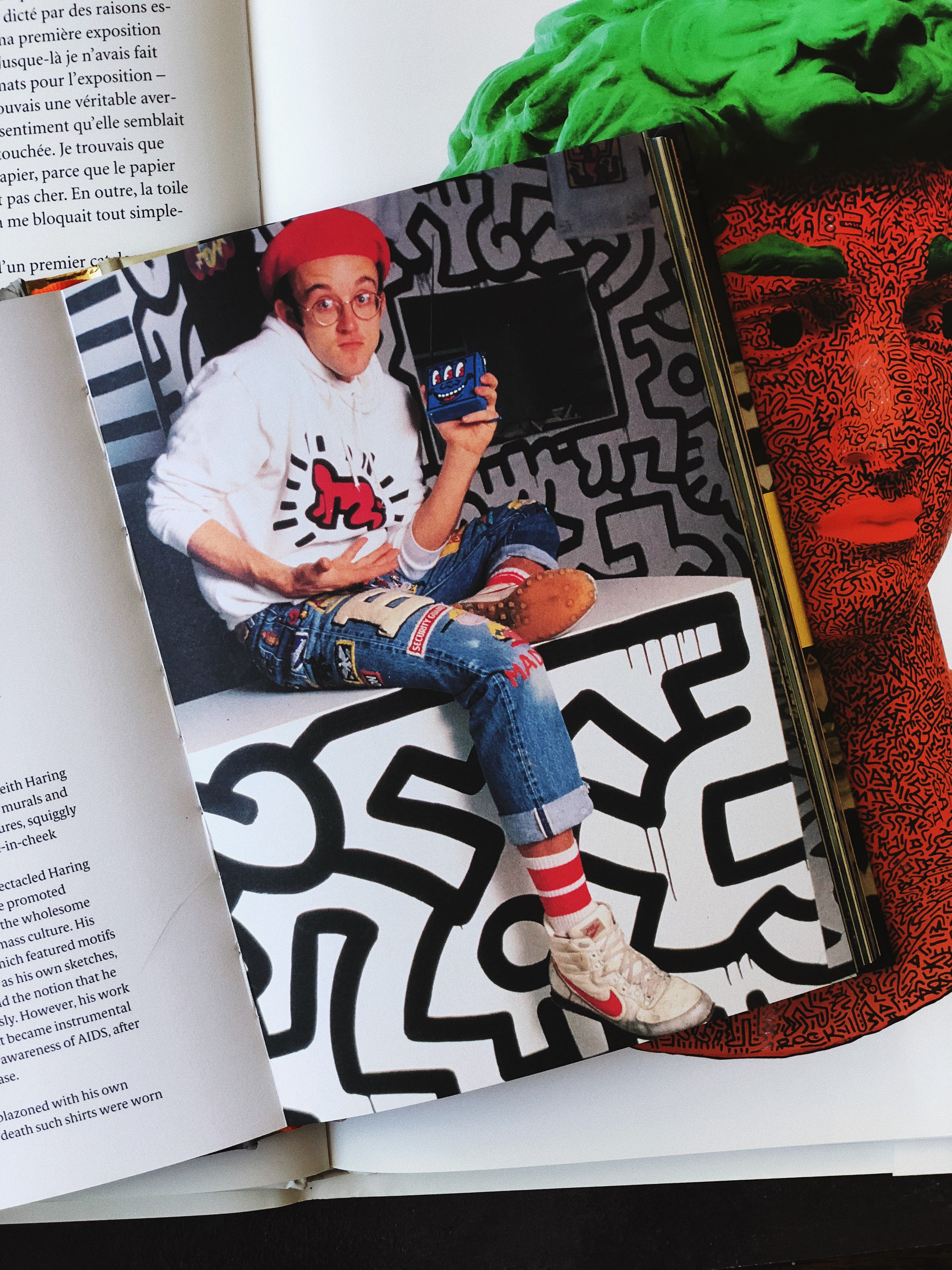 Keith Haring, from Sartorial: The Art of Looking Like an Artist, by Katerina Pantelides, published by Laurence King