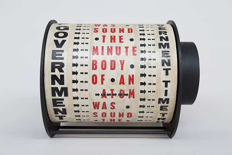 Liliane Lijn, Get Rid of Government Time, 1962, © the artist, P