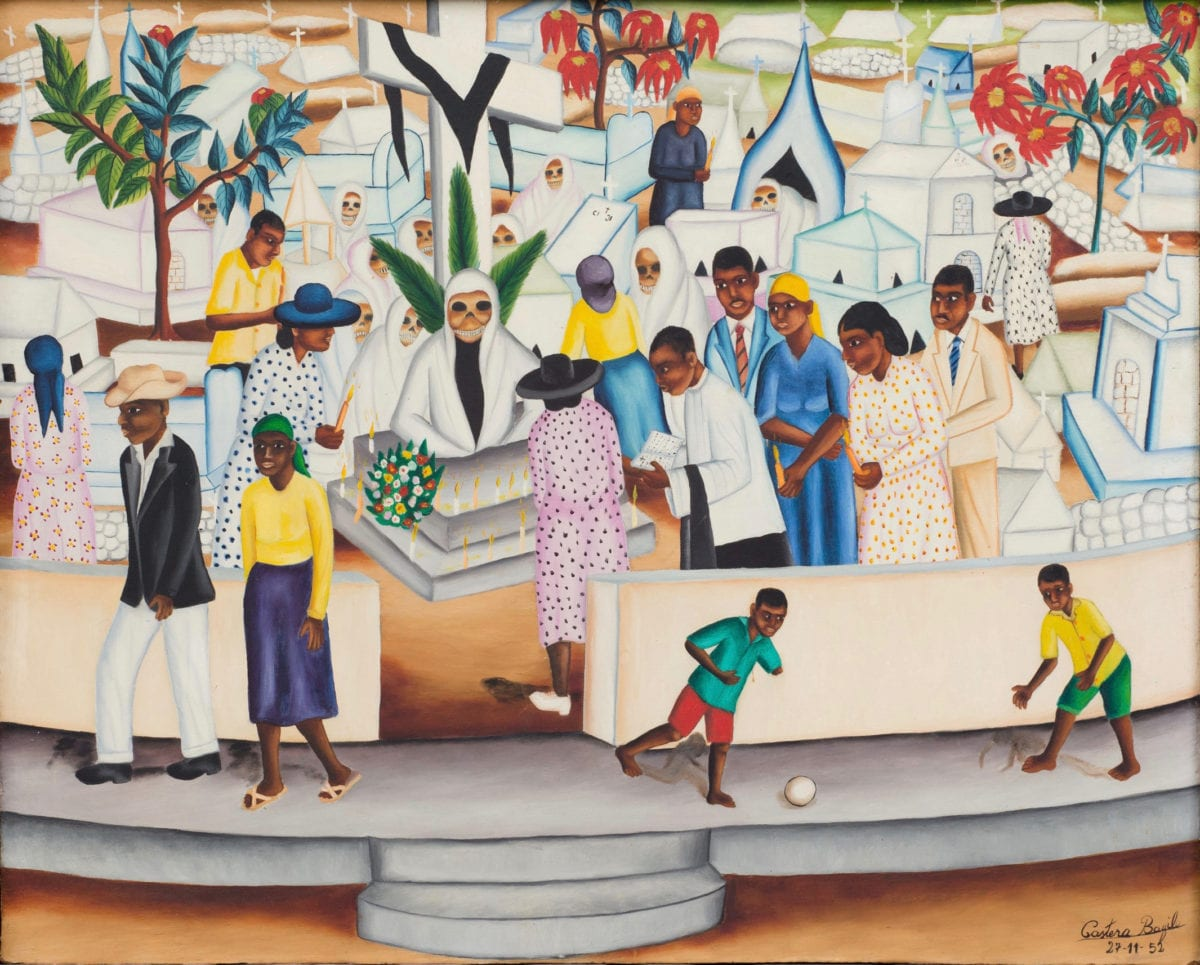 courtesy The Gallery of Everything © Castera Bazile The Gallery of Everything Cemetery Scene (1952) Castera Bazile (1923-1965)
