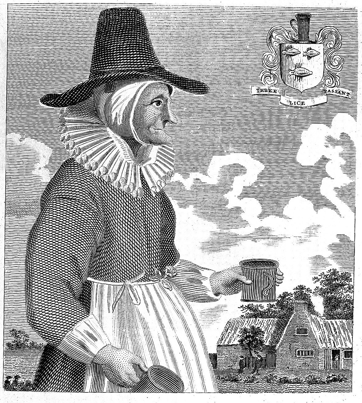 Mother Louse, a notorious Alewife in Oxford during the mid 18th century, courtesy Wellcome Collection