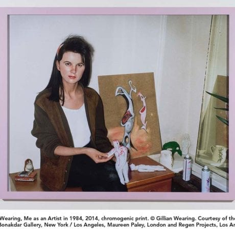 Gillian Wearing, Me as an Artist in 1984, 2014 c. Gillian Wearing, courtesy of the artist Tanya Bonakdar Gallery, New York/Los Angeles, Maureen Paley, London and Regen Projects, Los Angeles