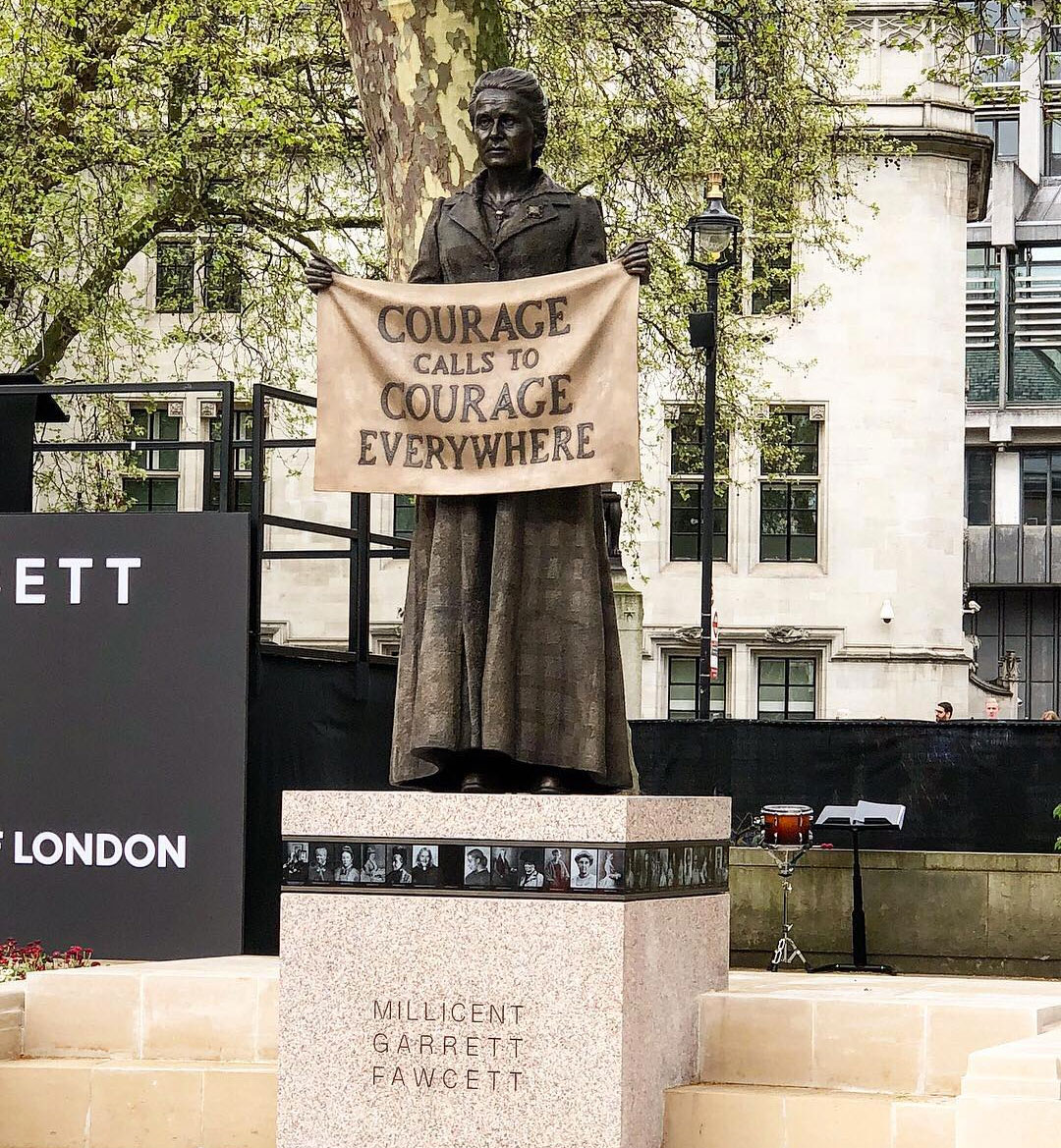 Gillian Wearing, Millicent Fawcett Statue. Courtesy Greater London Authority. Photo by Caroline Teo.