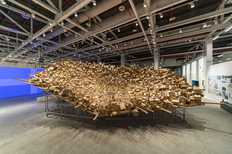 Exhibition Installation, Cosmopolis#1.5: Enlarged Intelligence, Chengdu, China, 2018. Courtesy Mao Jihong Arts Foundation.