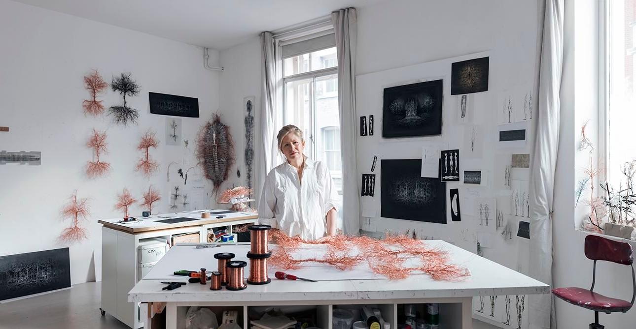 studio portrait cathy de monchaux artist sculpture anthony lycett portrait
