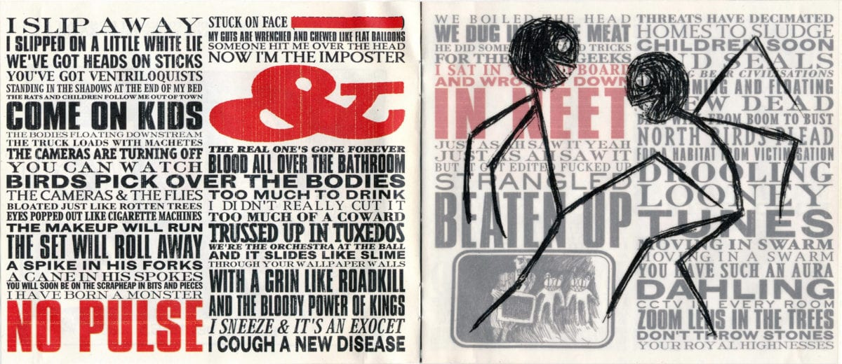 Stanley Donwood, Radiohead Kid A designs for the hidden CD booklet