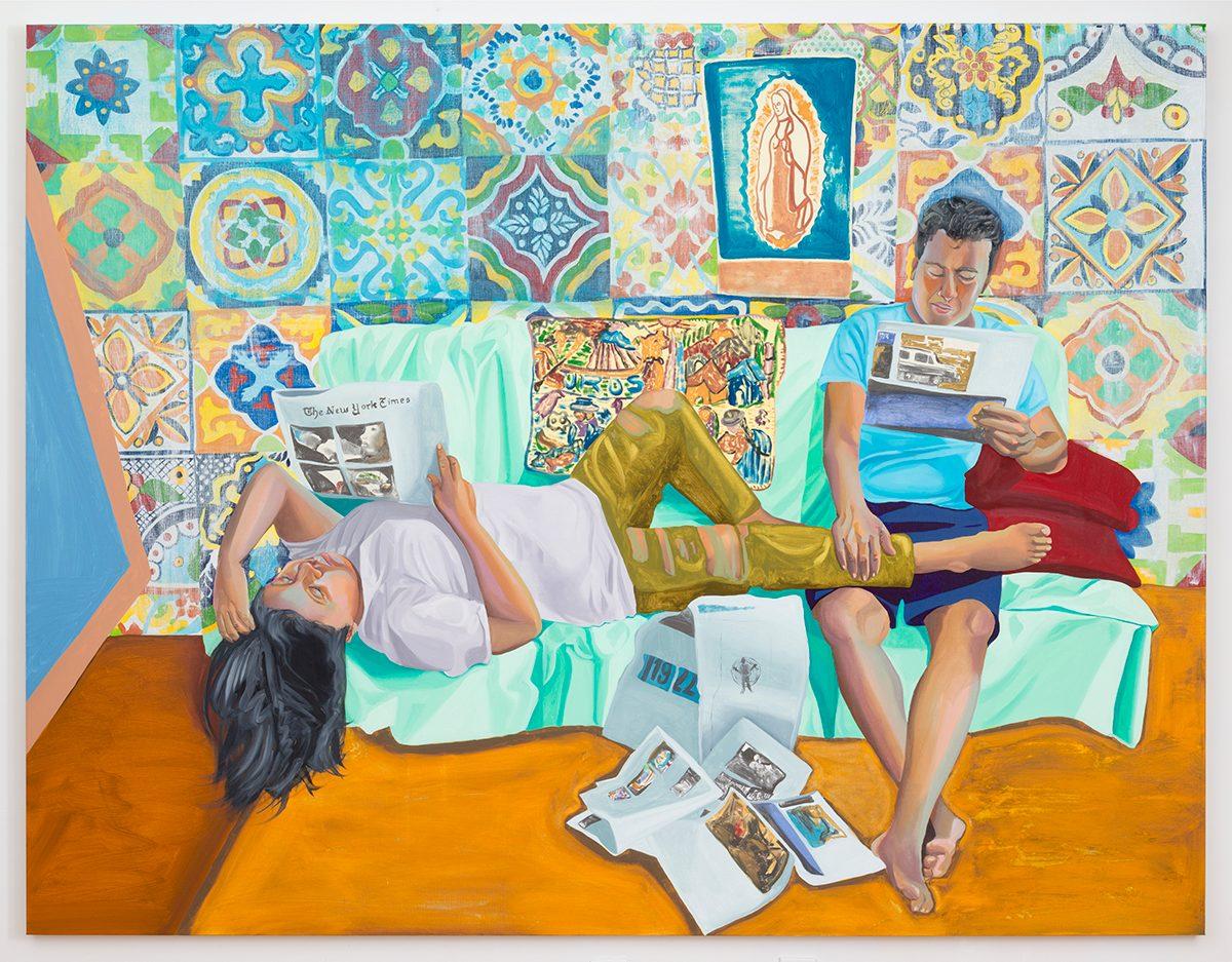 Aliza Nisenbaum, Study for La Talaverita, Sunday Morning NY Times