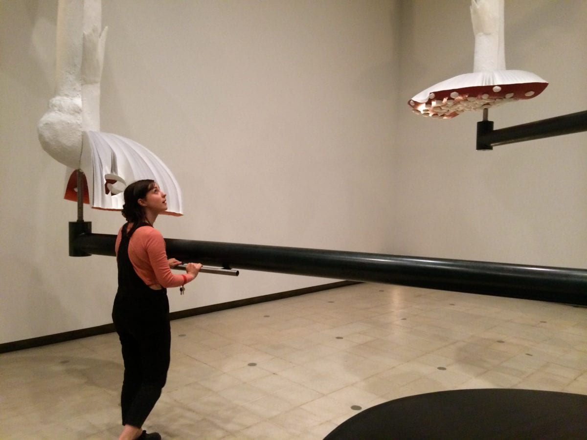 Elephant writer Molly Taylor at Carsten Höller's show Decision