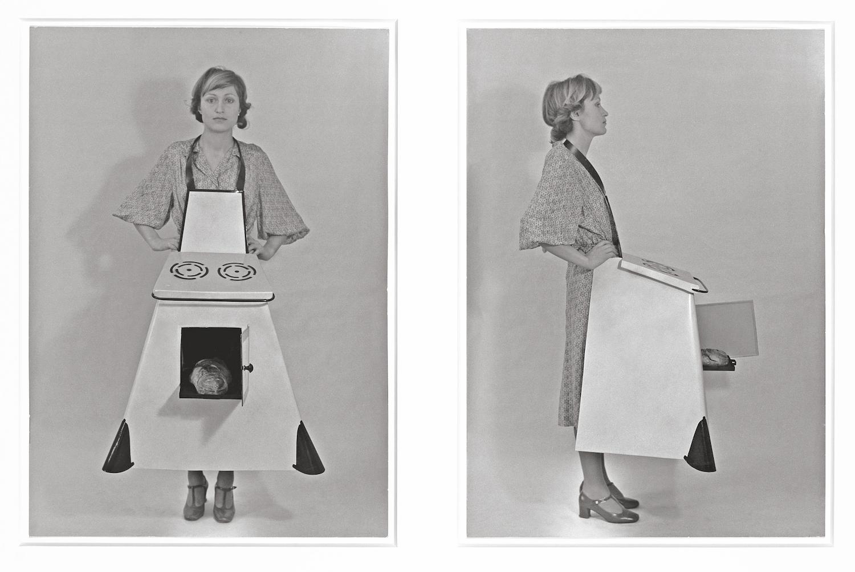 Birgit Jürgenssen, Housewives' Kitchen Apron, 1975