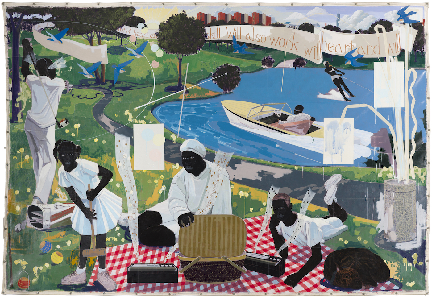 Kerry James Marshall Past Times, 1997