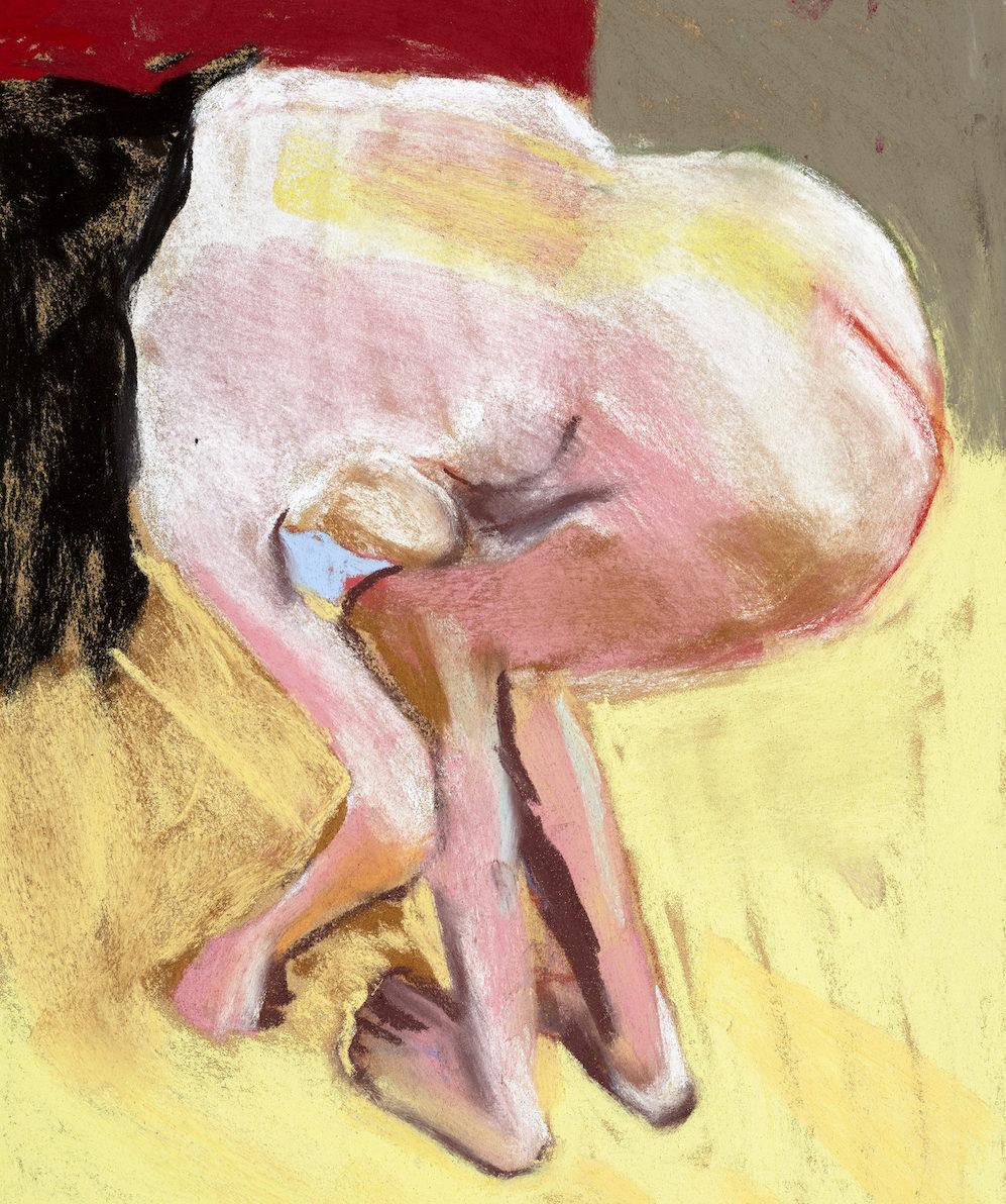 Self Portrait Bending Over, 2015 Chantal Joffe