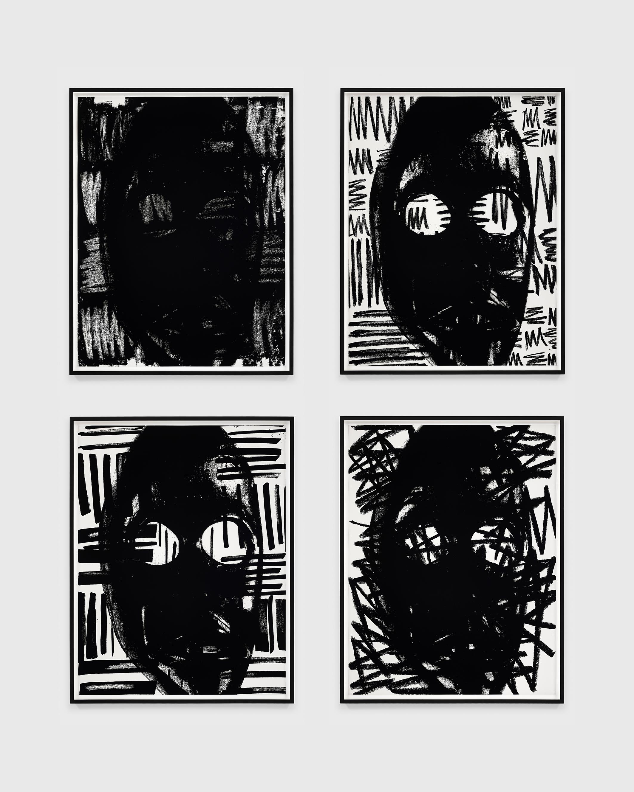 Adam Pendleton, Untitled (masks), 2018 © Adam Pendleton. Courtesy the artist and Galerie Eva Presenhuber, Zurich / New York