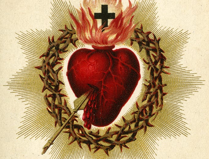 Catholic holy card depicting the Sacred Heart of Jesus, ca. 1880. Auguste Martin collection, University of Dayton Libraries