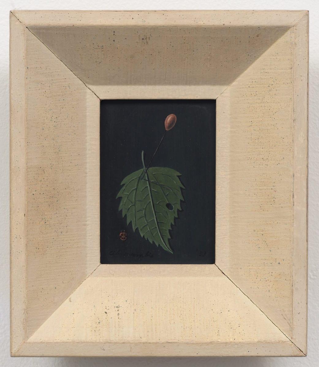 Gertrude Abercrombie, Leaf with Pin and Ladybug, 1953. Courtesy of Karma New York