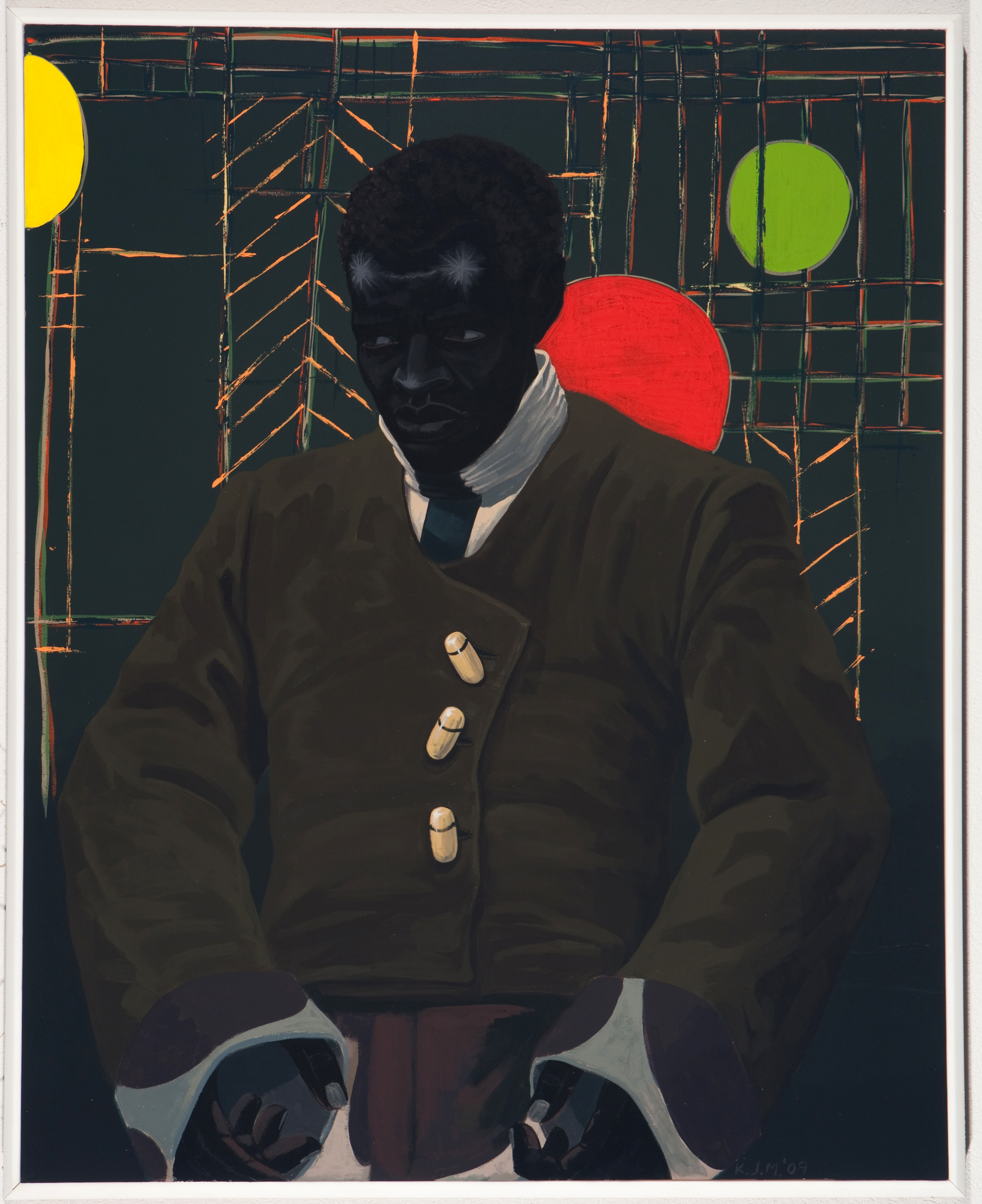Kerry James Marshall, The Actor Hezekiah Washington as Julian Carlton Taliesen Murderer Frank Lloyd Wright Family, 2009 © Kerry James Marshall. Courtesy of the artist and Jack Shainman Gallery, New York