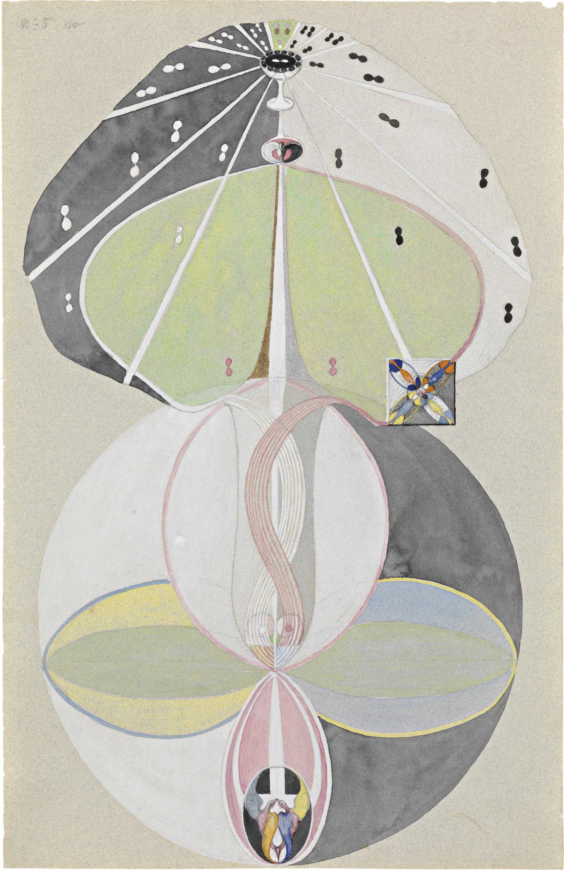 Hilma af Klint Tree of Knowledge, No. 5 (Kunskapens träd, nr 5), 1915. Courtesy The Hilma af Klint Foundation, Stockholm