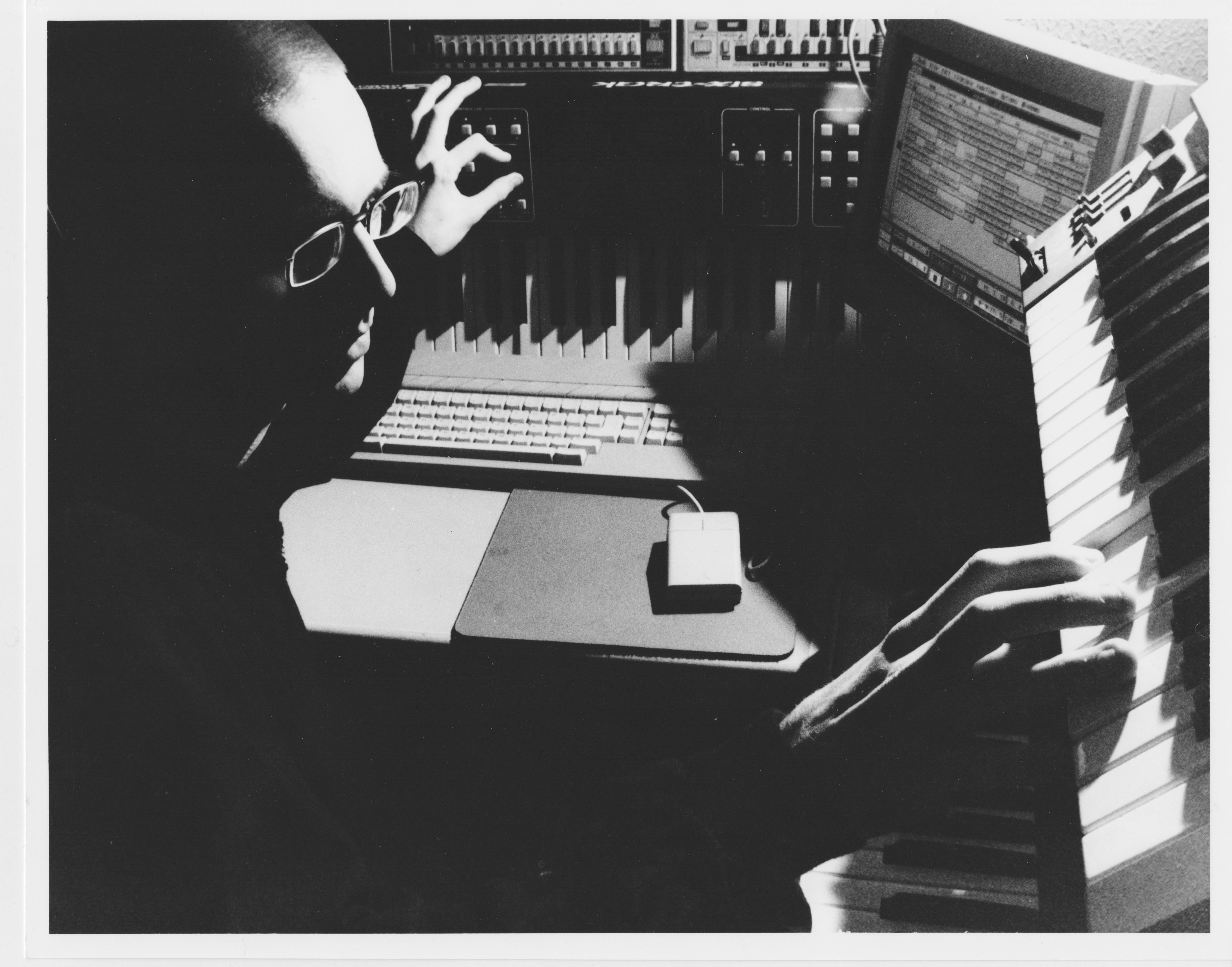 Richie Hawtin in the studio