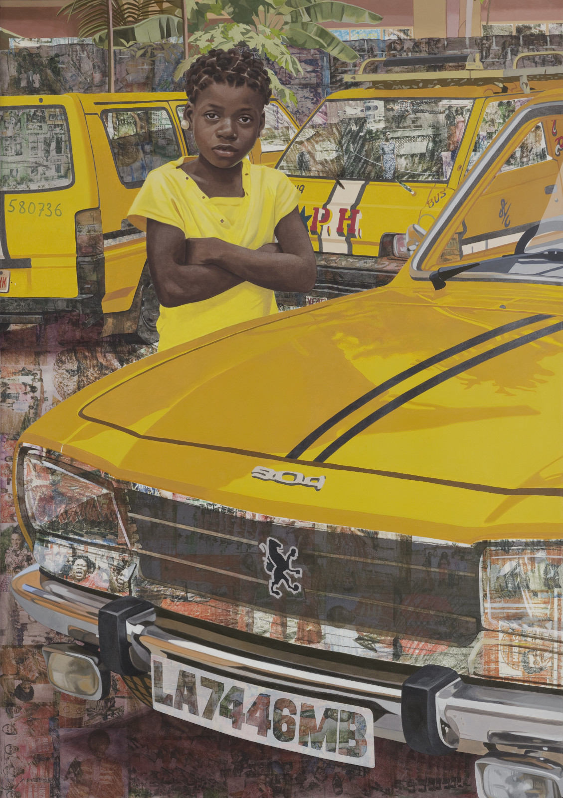 Njideka Akunyili Crosby, The Beautyful Ones Series #7, 2018. © Njideka Akunyili Crosby, courtesy the artist, Victoria Miro, and David Zwirner