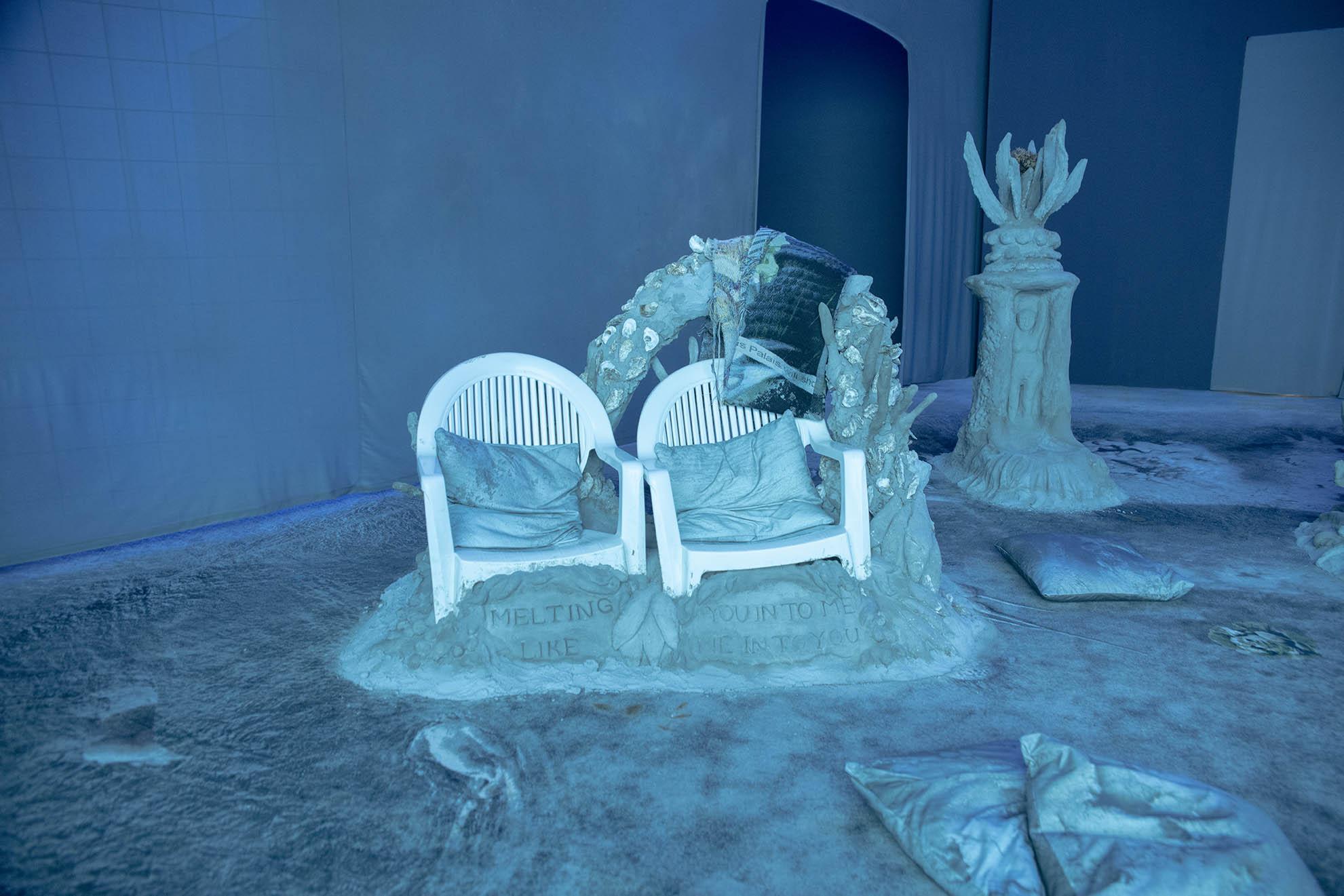 Laure Prouvost, Deep See Blue Surrounding You / Vois Ce Bleu Profond Te Fondre, French Pavilion at the 58th Venice Biennale, 2019. © Giacomo Cosua